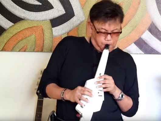 Andrew Oh Demonstrating The Saw Lead Sound On Roland Aerophone AE10