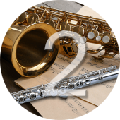 Learning to play the saxophone and flute for elementary students