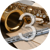 Learning to play the saxophone and flute for intermediate students